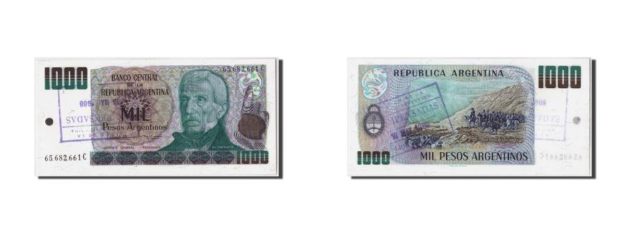 World Coins - Argentina, 1000 Pesos Argentinos, KM #317b, UNC(65-70), 65.682.661C