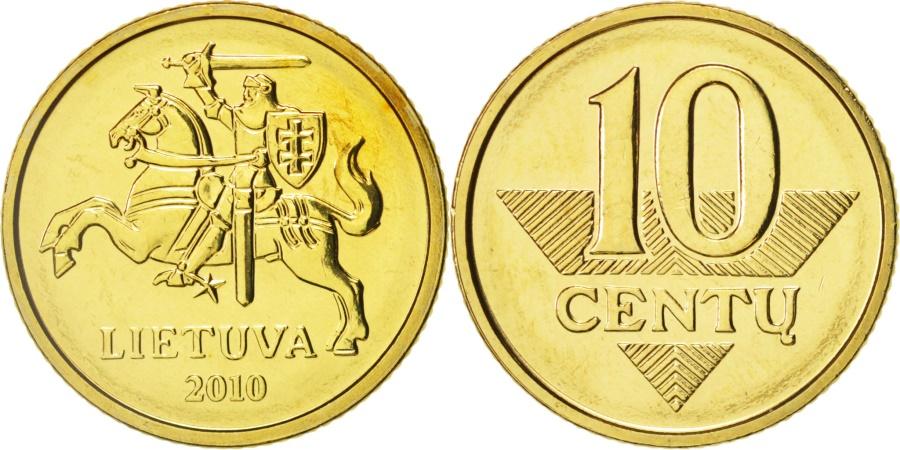 World Coins - Lithuania, 10 Centu, 2010, , Nickel-brass, KM:106