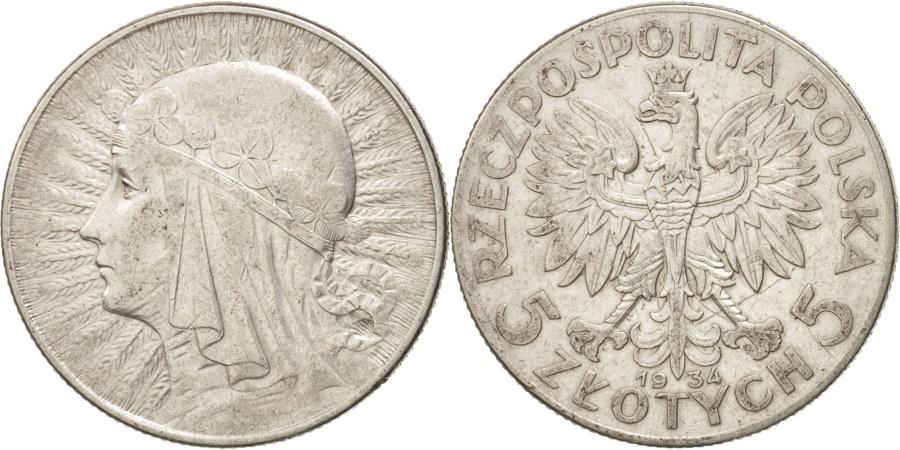 World Coins - Poland, 5 Zlotych, 1934, Warsaw, , Silver, KM:21