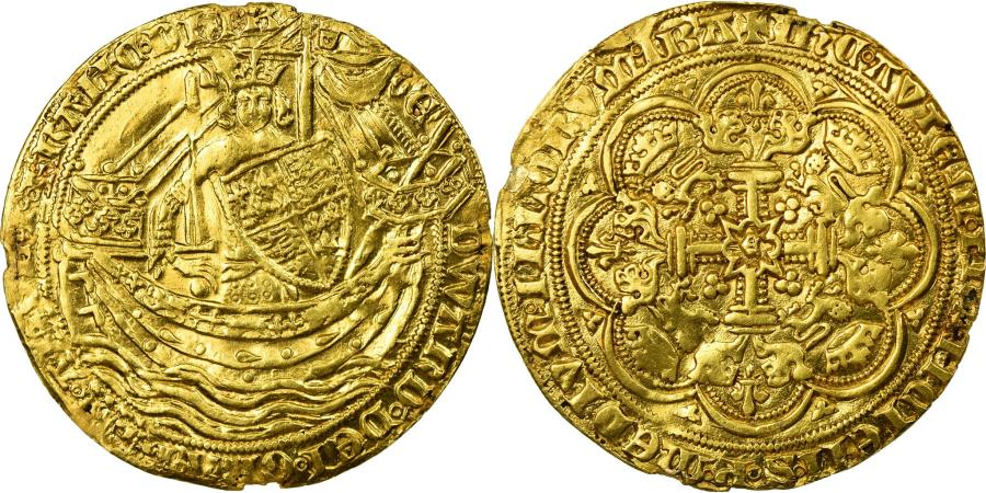 World Coins - Coin, Great Britain, Edward III, Noble d'or, Calais, , Gold, Spink:1521