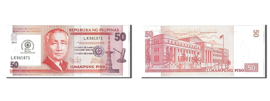 World Coins - Philippines, 50 Piso, 2013, UNC(65-70), ZS438295