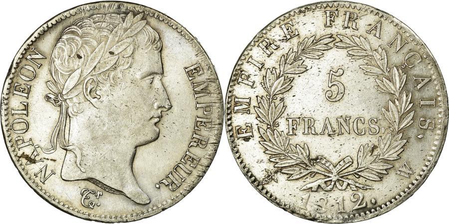 World Coins - Coin, France, Napoléon I, 5 Francs, 1812, Lille, AU(55-58), Silver, KM:694.16