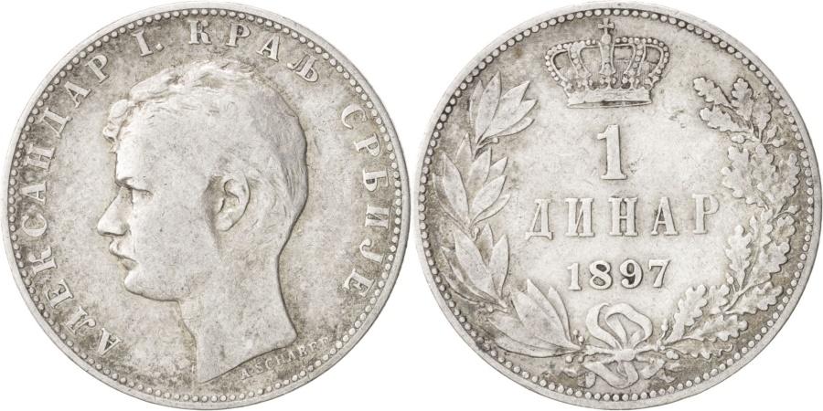 World Coins - SERBIA, Dinar, 1897, KM #21, , Silver, 4.96