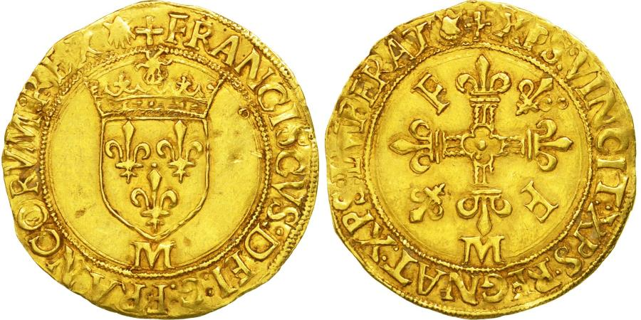 World Coins - Coin, France, François Ier, Ecu d'or, Toulouse, , Gold, Sombart:4860