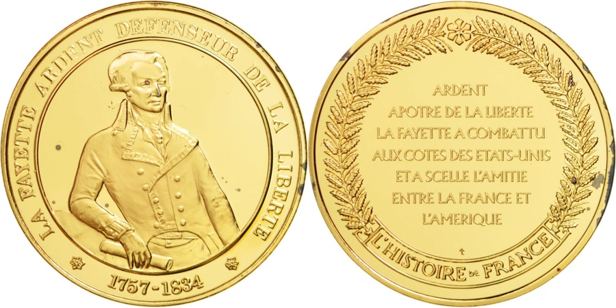 World Coins - FRANCE, History, French Fifth Republic, Medal, , Vermeil, 44, 39.72