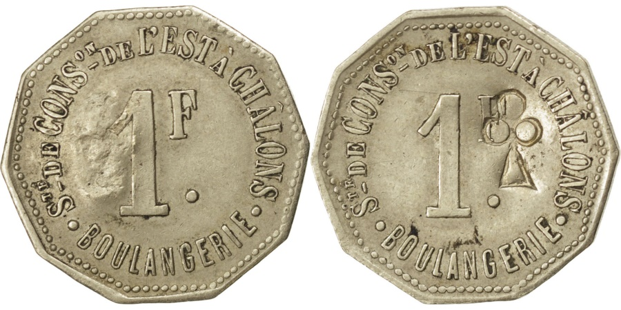 World Coins - France, 1 Franc, , Maillechort, Elie #30.5var, 2.57