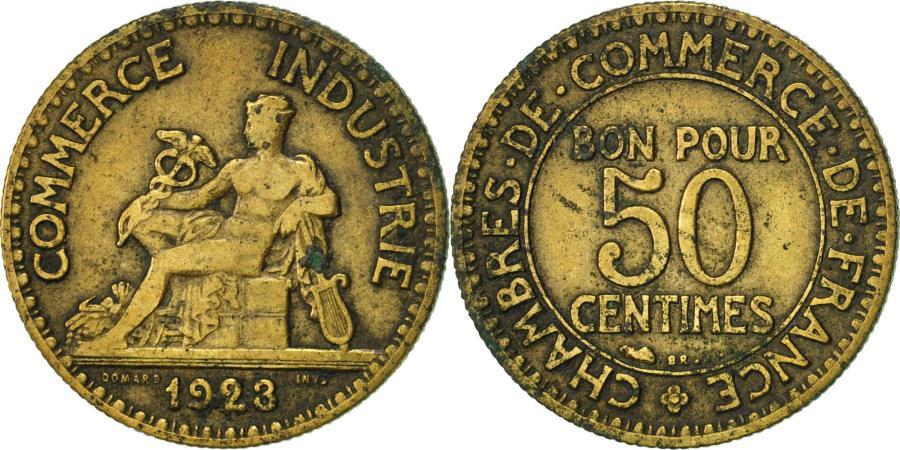 France chambre de commerce 50 centimes 1923 paris vf - Chambre de commerce internationale paris ...