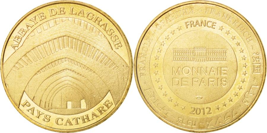 World Coins - France, Tourist Token, 11/ Abbaye de Lagrasse, 2012, Monnaie de Paris