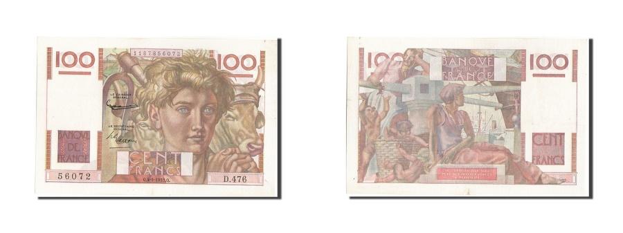 World Coins - France, 100 Francs, 100 F 1945-1954 ''Jeune Paysan'', 1952, KM #128d,...