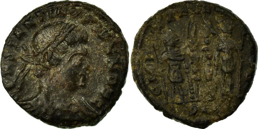 Ancient Coins - Coin, Constantine II, Nummus, 330-331, Lyon, , Copper, RIC:244
