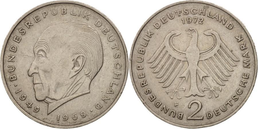 World Coins - GERMANY - FEDERAL REPUBLIC, 2 Mark, 1972, Stuttgart, , KM:124