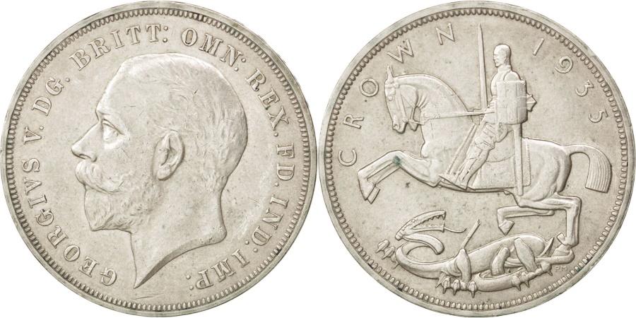 World Coins - GREAT BRITAIN, Crown, 1935, KM #842, , Silver, 38.61, 28.40