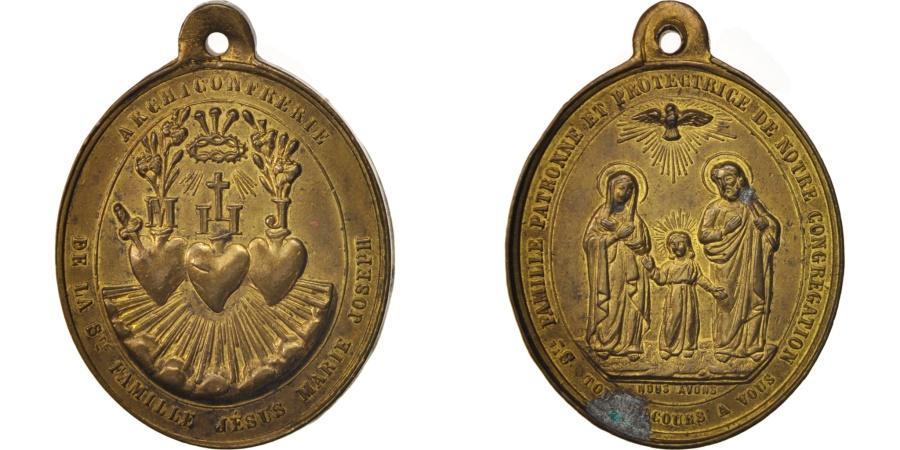 World Coins - France, Medal, Archiconfrérie de la Sainte famille, Religions & beliefs