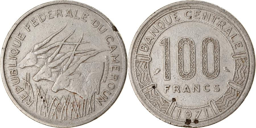 World Coins - Coin, Cameroon, 100 Francs, 1971, Paris, , Nickel, KM:15