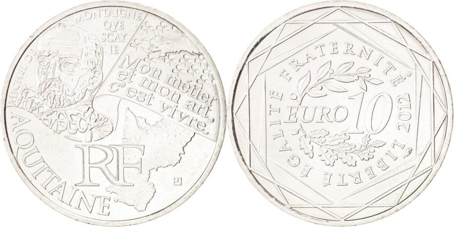 World Coins - FRANCE, 10 Euro, 2012, Paris, KM #1863, , Silver, 29, 10.11