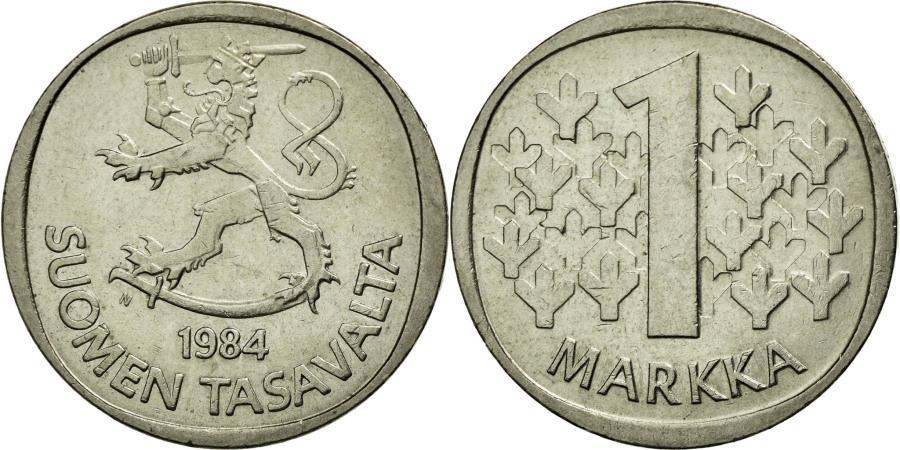 World Coins - Coin, Finland, Markka, 1984, EF(40-45), Copper-nickel, KM:49a