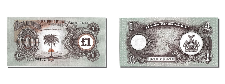 World Coins - Biafra, 1 Pound, KM #5a, UNC(65-70), DL0996432