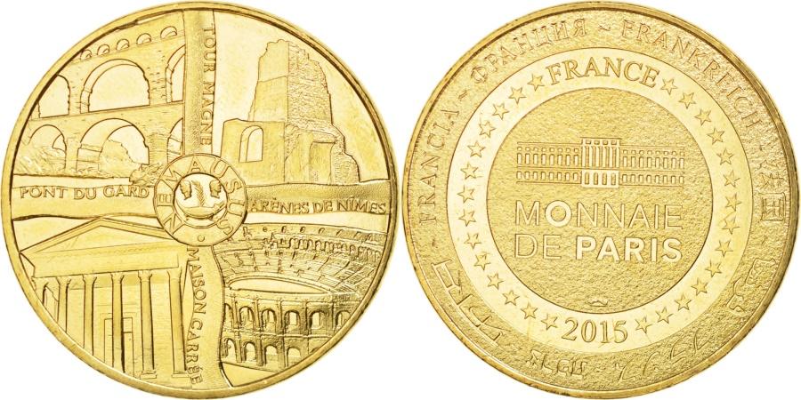 World Coins - France, Tourist Token, 30/ 4 Monuments - Nîmes, 2015, Monnaie de Paris