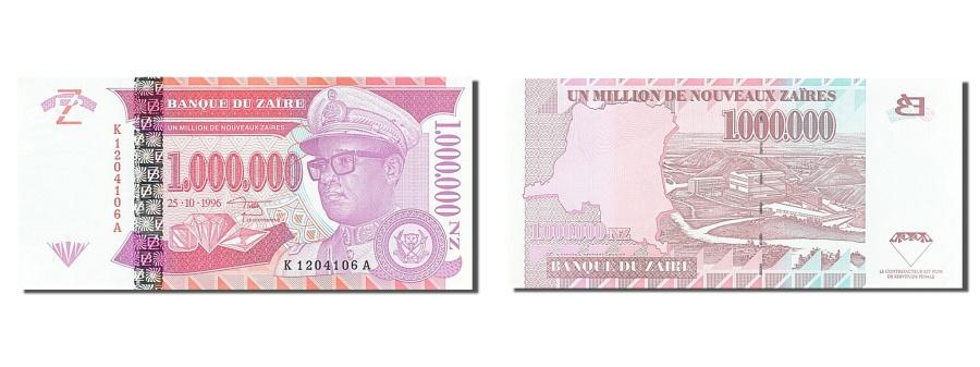World Coins - Zaïre, 1,000,000 Nouveaux Zaïres, 1996, KM #79a, 1996-10-25, UNC(63), K1204106A