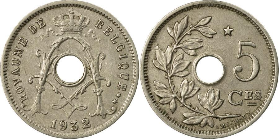 World Coins - Coin, Belgium, 5 Centimes, 1932, , Copper-nickel, KM:66