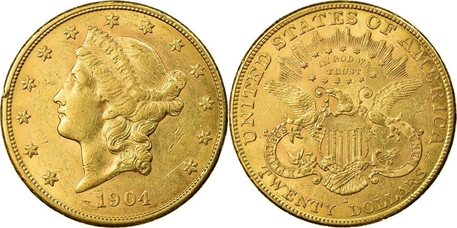 US Coins - Coin, United States, Liberty Head, $20, Double Eagle, 1904, San Francisco