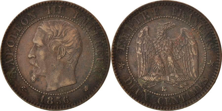 World Coins - France, Napoleon III, 2 Centimes, 1856, Bordeaux, KM:776.5