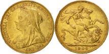 World Coins - Australia, Victoria, Sovereign, 1900, Melbourne, EF(40-45), Gold, KM:13