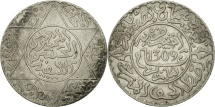 Morocco, Moulay al-Hasan I, 2-1/2 Dirhams, 1891, Paris, EF(40-45), Silver, KM:6