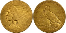 Us Coins - United States, Indian Head, $5, 1915, Philadelphia, EF(40-45), Gold, KM:129