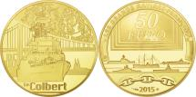 World Coins - France, 50 Euro, Colbert, 2015, MS(65-70), Gold