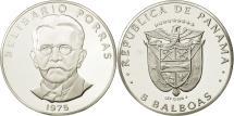 World Coins - Panama, 5 Balboas, 1975, U.S. Mint, MS(64), Silver, KM:40.1a