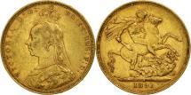 World Coins - Australia, Victoria, Sovereign, 1891, Sydney, EF(40-45), Gold, KM:10