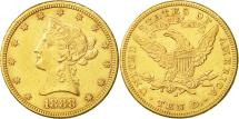 Us Coins - United States, Coronet Head, $10, 1888, San Francisco, EF(40-45), KM 102