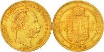 Hungary, Franz Joseph I, 8 Forint 20 Francs, 1879, Kremnitz, AU(55-58), Gold