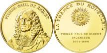 World Coins - France, Medal, Pierre-Paul de Riquet, MS(63), Vermeil