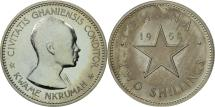 World Coins - Ghana, 2 Shilling, 1958, MS(63), Copper-nickel, KM:6