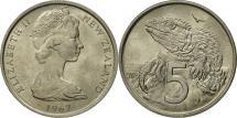 World Coins - New Zealand, Elizabeth II, 5 Cents, 1967, MS(63), Copper-nickel, KM:34.1