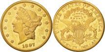 Us Coins - United States, Liberty Head, $20, 1897, San Francisco, AU(50-53), Gold, KM:74.3