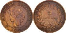 World Coins - France, Cérès, 5 Centimes, 1897, Paris, EF(40-45), Bronze, KM:821.1