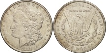 Us Coins - United States, Morgan Dollar, Dollar, 1889, U.S. Mint, Philadelphia, KM 110