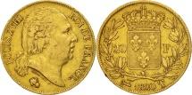 World Coins - France, Louis XVIII, 20 Francs, 1820, Nantes, Gold, KM:712.8
