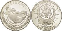 Us Coins - United States, Dollar, 1991, U.S. Mint, San Francisco, MS(63), Silver, KM:229