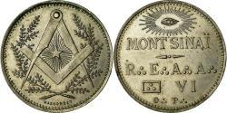 World Coins - France, Token, Masonic, Mont Sinaï, , Maillechort, Labouret:290
