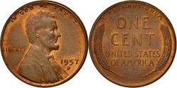 Us Coins - Coin, United States, Lincoln Cent, Cent, 1957, U.S. Mint, Denver,