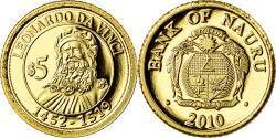 World Coins - Coin, Nauru, Leonard De Vinci, 5 Dollars, 2010, , Gold
