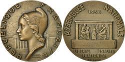 World Coins - France, Medal, Assemblée Nationale, P.Gavelle, Sténographe, 1956, Guiraud