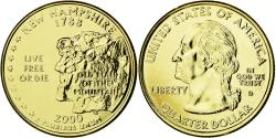 Us Coins - Coin, United States, New Hampshire, Quarter, 2000, U.S. Mint, , Gold