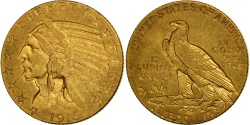 Us Coins - United States, Indian Head, $5, 1915, Philadelphia, , Gold, KM:129