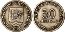 World Coins - Coin, Mozambique, 50 Centavos, 1936, , Copper-nickel, KM:65