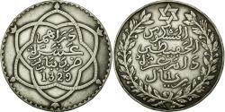 World Coins - Coin, Morocco, 'Abd al-Hafiz, Rial, 10 Dirhams, 1911/AH1329, bi-Bariz, Paris